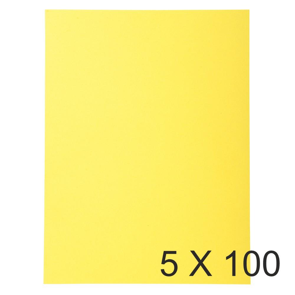 Exacompta Forever - 5 Paquets de 100 Chemises Folio - 170 gr - jaune
