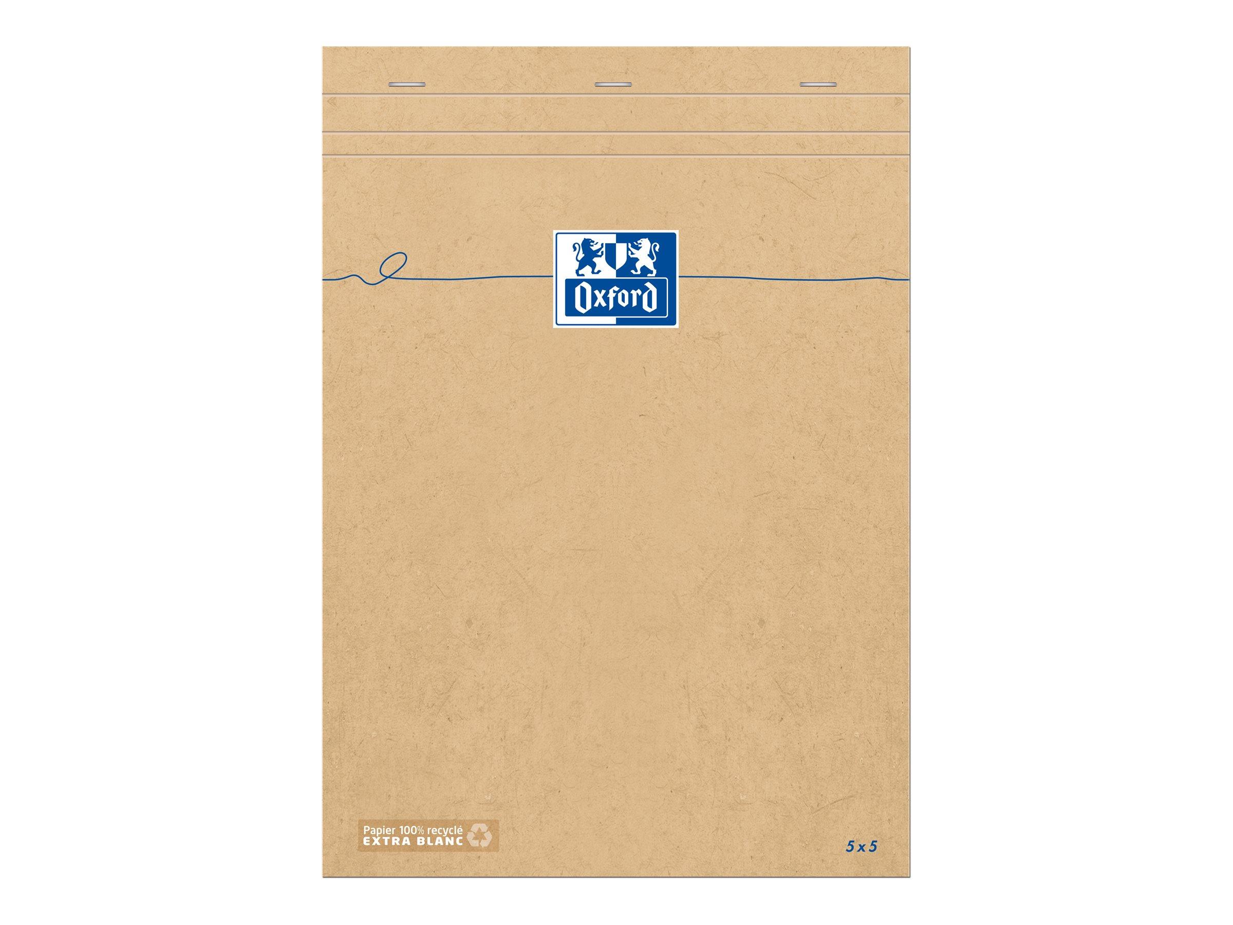 Oxford - Bloc notes - A4 - 160 pages - petits carreaux - 80G
