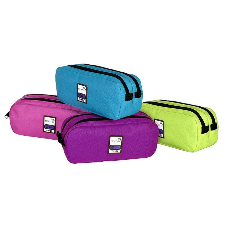 Trousse rectangulaire Teknik Girl Double - 2 compartiments - 4 coloris disponibles - Viquel