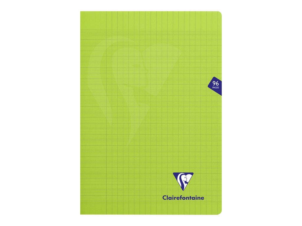 Clairefontaine Mimesys - Cahier polypro A4 (21x29,7 cm) - 96 pages - grands carreaux (Seyes) - vert
