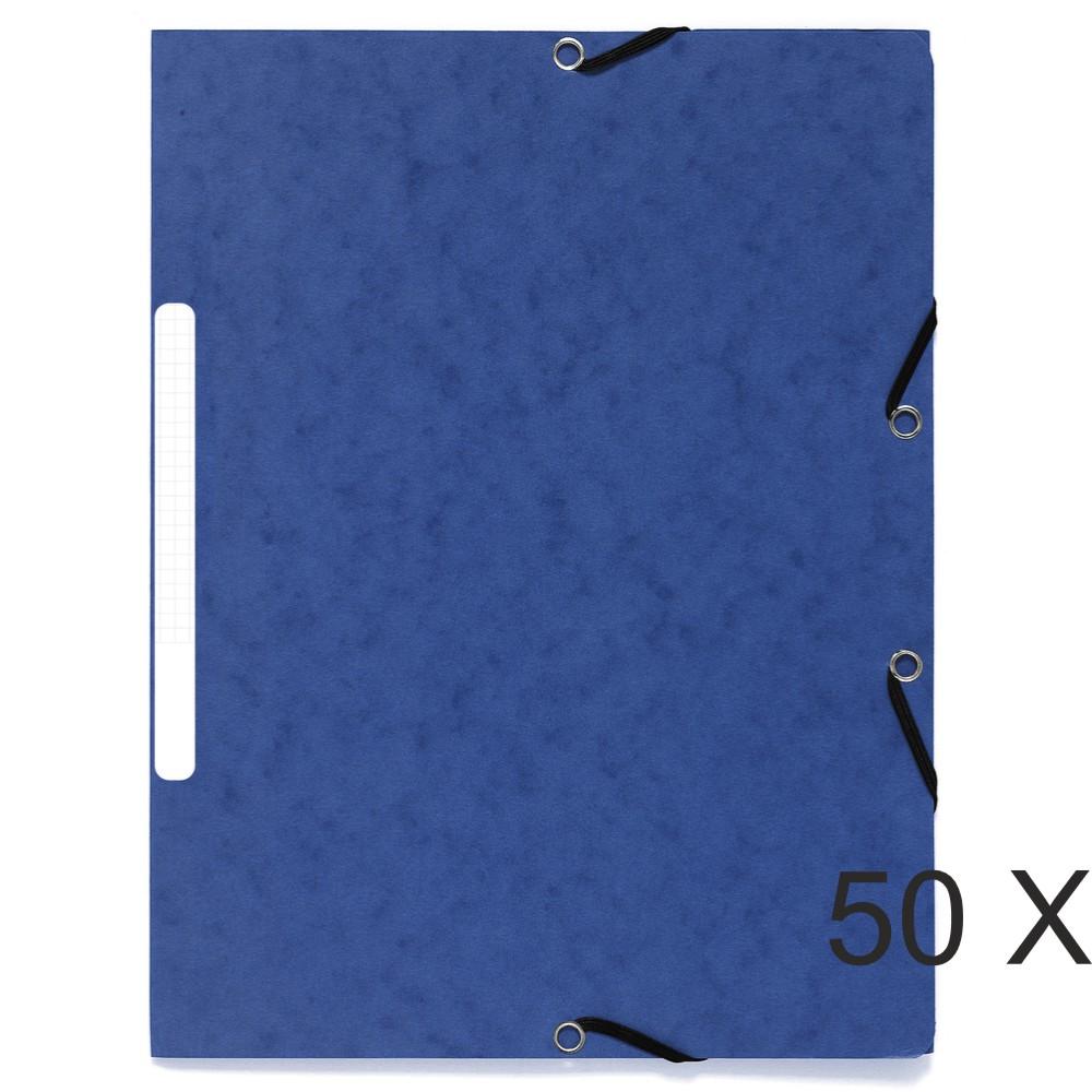 Exacompta - 50 Chemises recyclées à 3 rabats - A4 - bleu