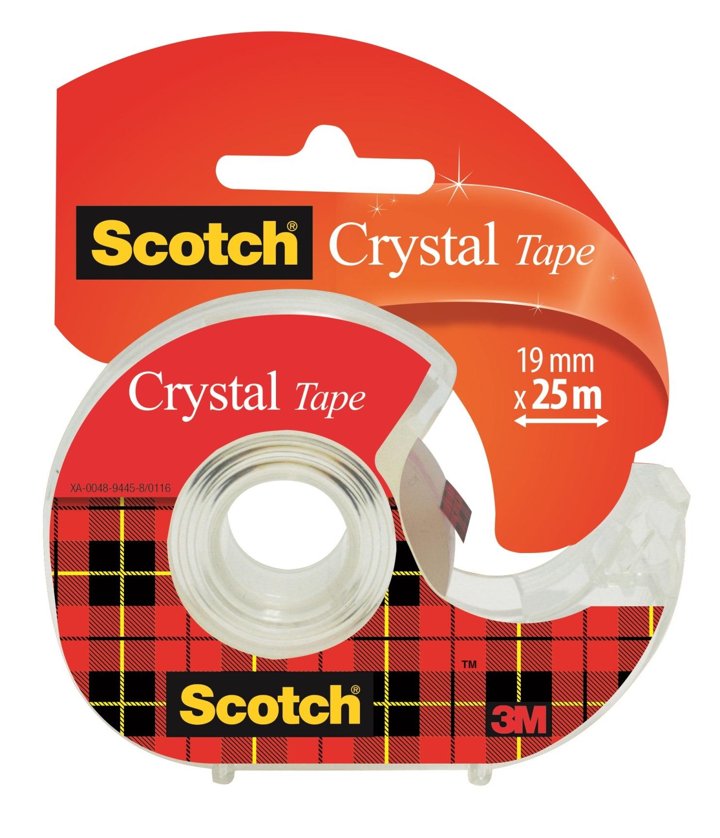 Scotch Crystal - Ruban adhésif - 19 mm x 25 m - transparent