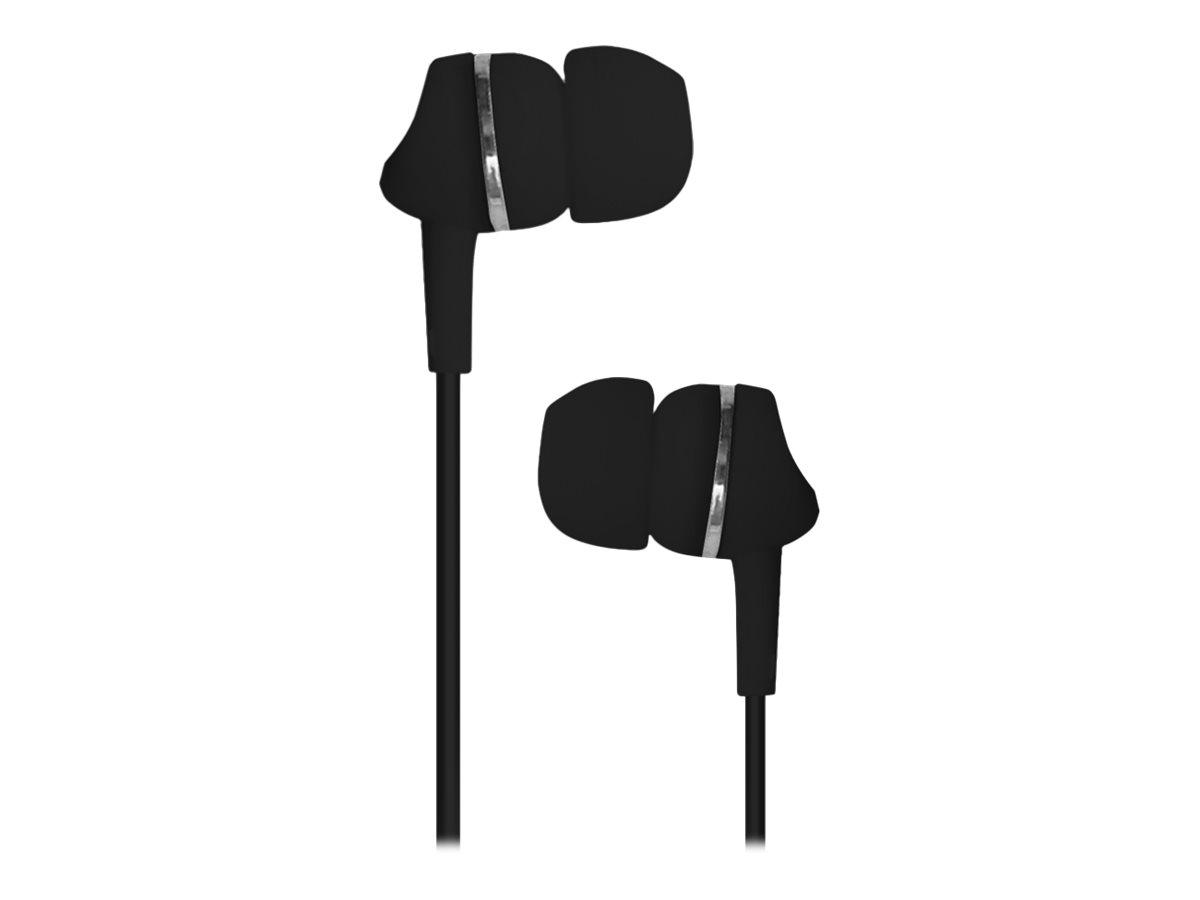 TX Kit main libre - Ecouteurs filaire avec micro - intra-auriculaire - noir