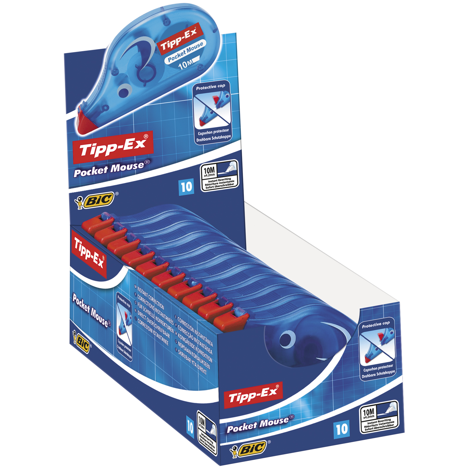 Tipp Ex - Pack de 10 correcteurs - Pocket Mouse - 5mm x 10 m