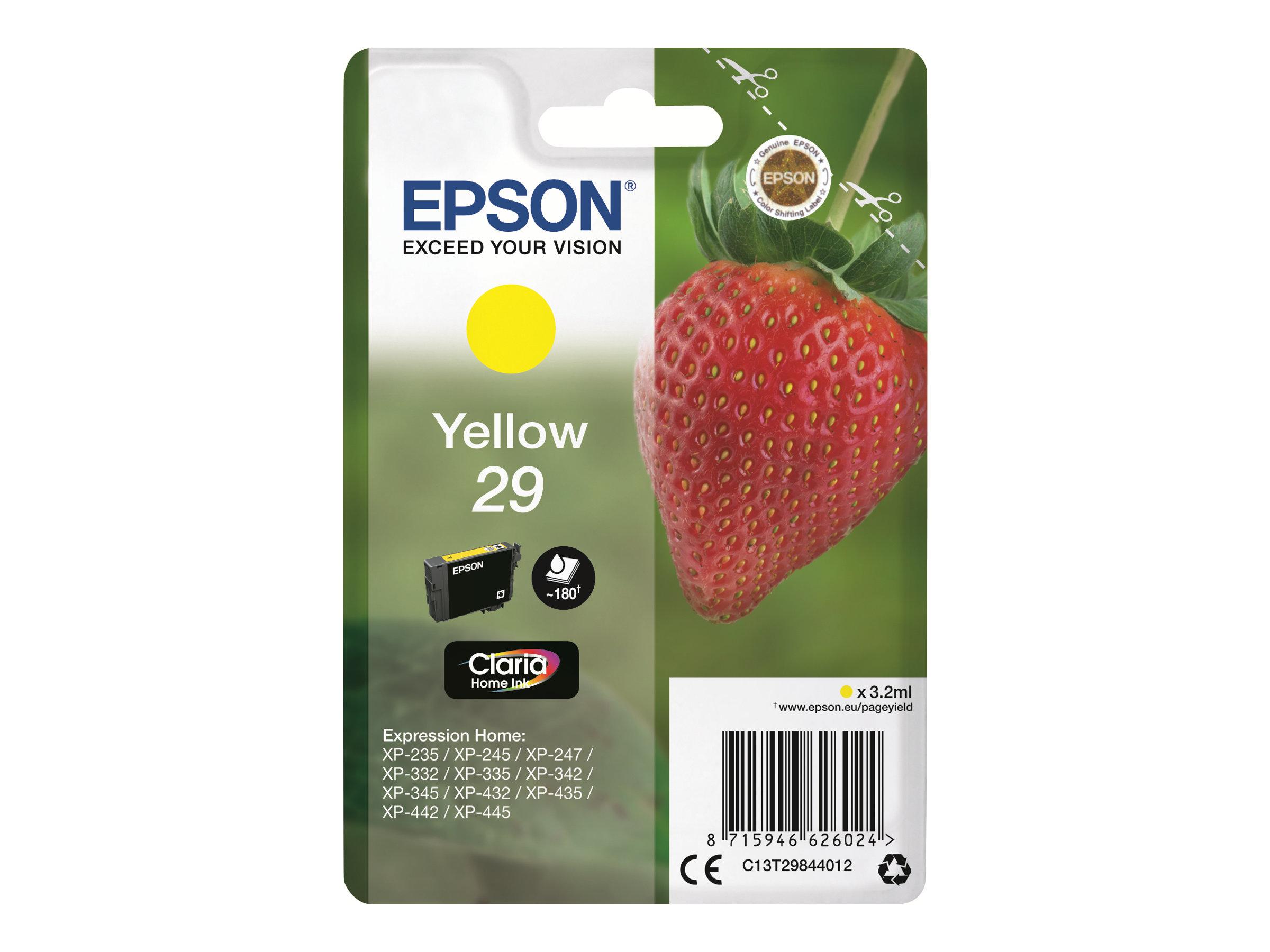 Epson 29 Fraise - jaune - cartouche d'encre originale