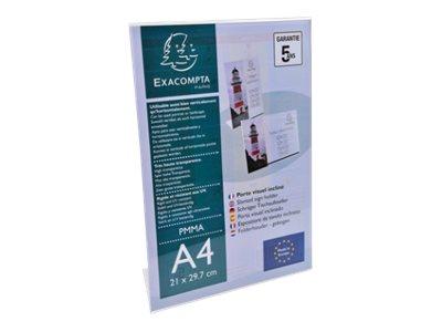 Exacompta - Présentoir porte-visuel incliné - A4 horizontal/vertical