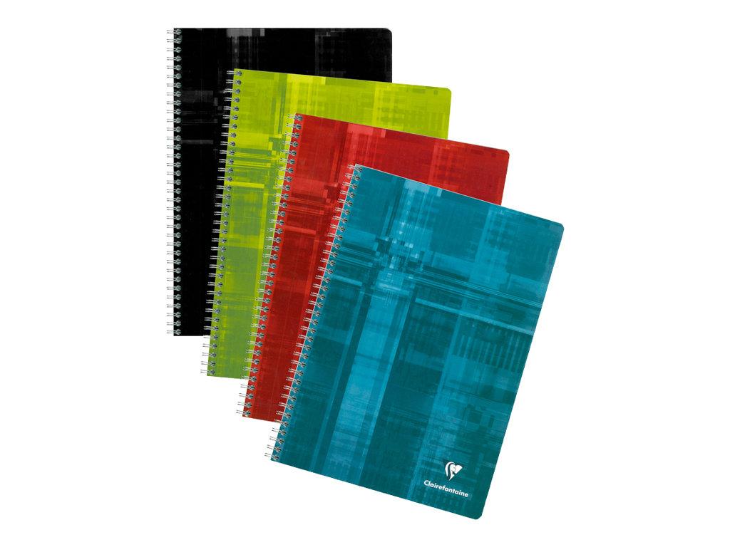 Clairefontaine - Cahier à spirale A4 (21x29,7 cm) - 180 pages - petits carreaux (5x5 mm) - disponible dans différentes couleurs