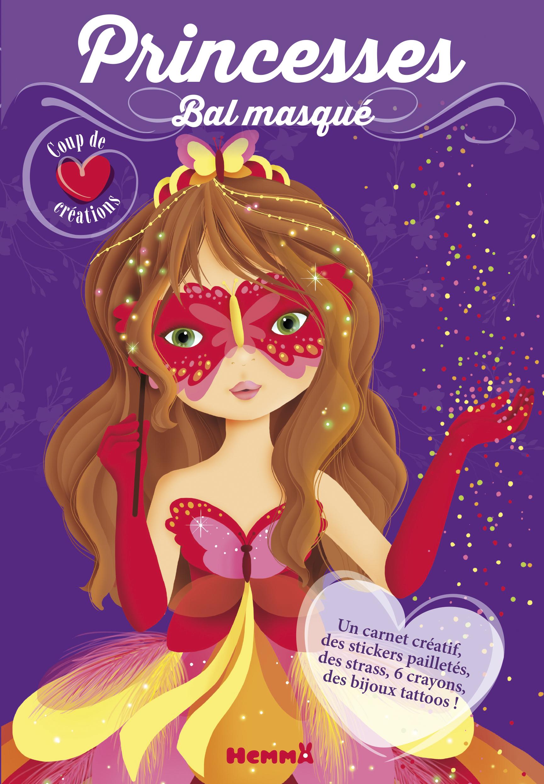 Princesses, bal masqué - coup de coeur créations (masque rouge)