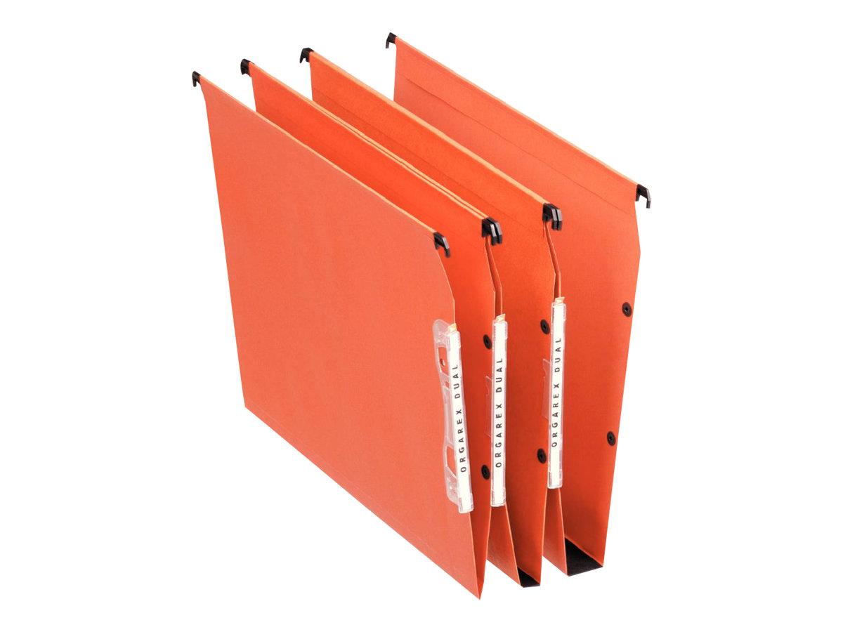 Esselte Dual - 25 Dossiers suspendus pour armoires - fond 15 mm