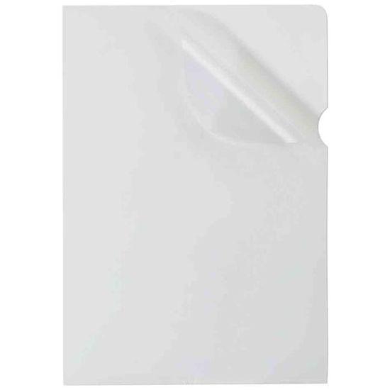 100 Pochettes coin neutres - A4 - pour 25 feuilles - 9/100 - incolore