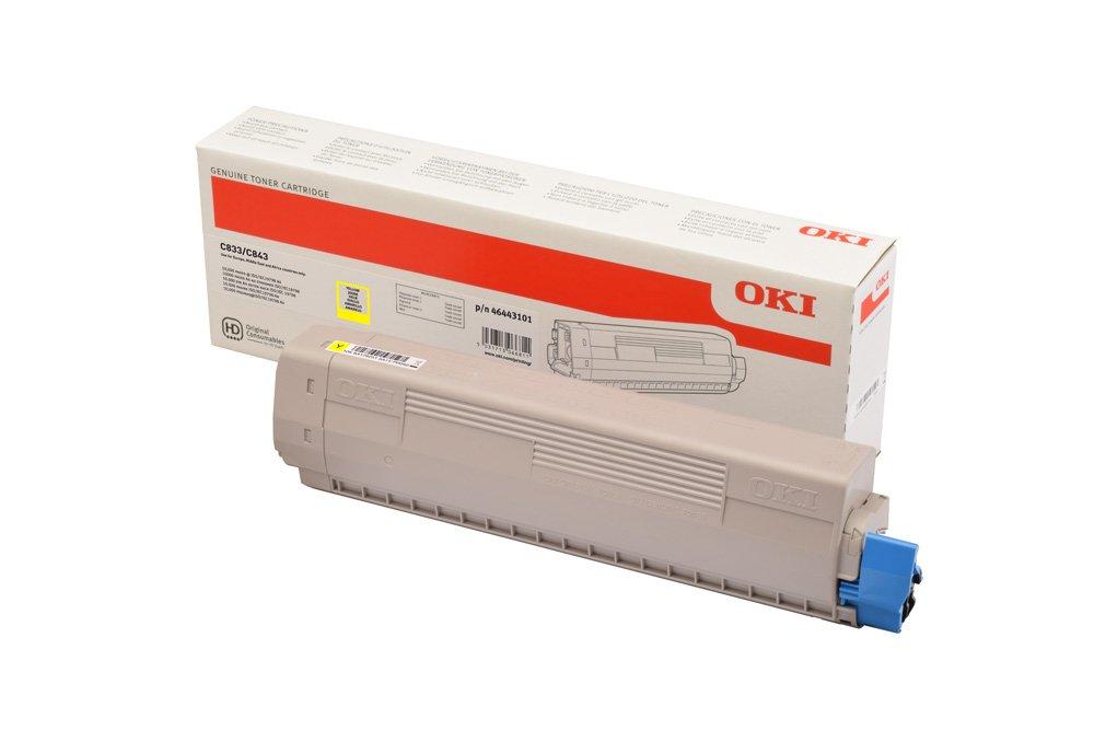 OKI 46443101 - jaune - cartouche laser d'origine