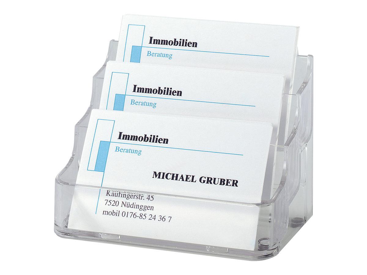 Sigel - Porte-carte de visites transparent - 3 compartiments - 94 x 85 mm - pour 210 cartes