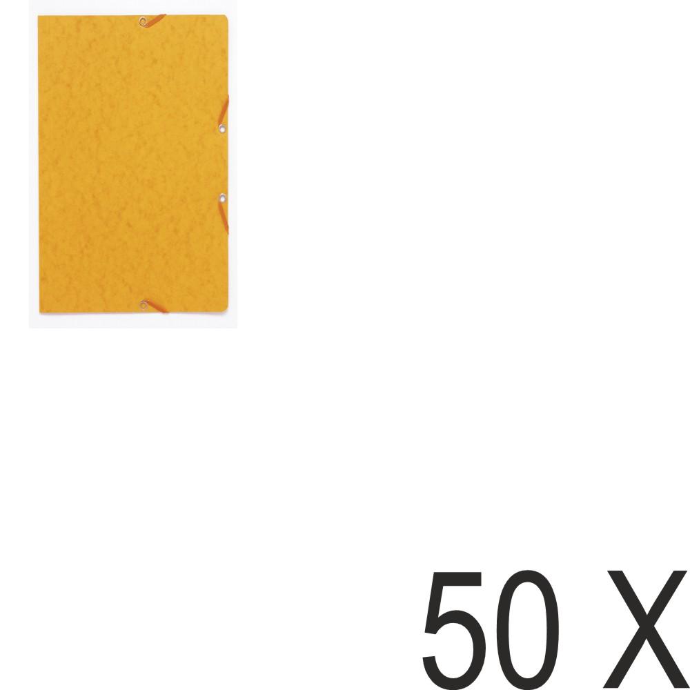 Exacompta - 50 Chemises recyclées sans rabat - A4 - jaune