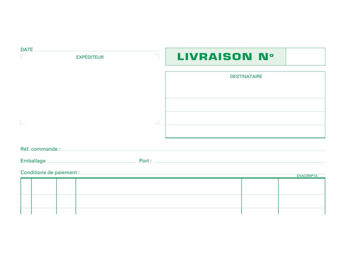 Exacompta - Manifold Carnet de livraisons - 50 dupli - A4