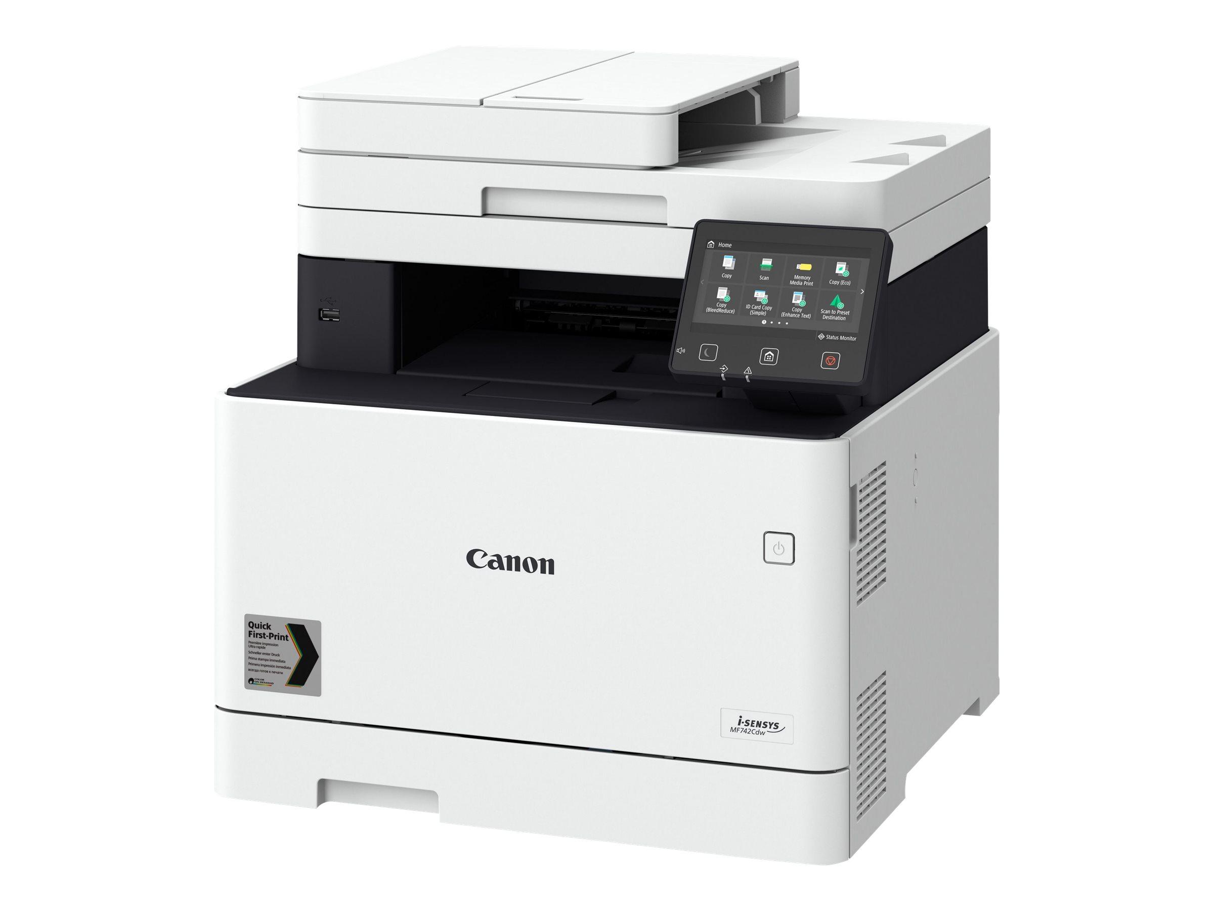 Canon i-SENSYS MF742Cdw - imprimante laser multifonction couleur A4 - recto-verso - Wifi