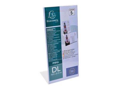 Exacompta - Porte-visuel incliné - format DL horizontal ou vertical