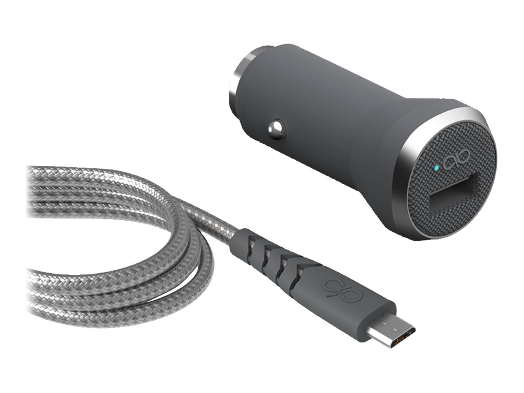 BigBen Force Power - chargeur allume-cigare pour smartphone - 1 USB + 1 câble USB/micro USB
