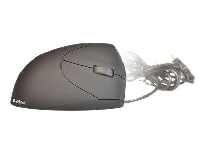 Waateck - souris filaire ergonomique spéciale gaucher - noire