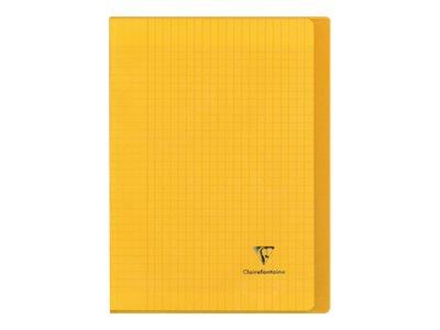 Clairefontaine Koverbook - Cahier polypro A4 (21x29,7 cm) - 96 pages - grands carreaux (Seyes) - disponible dans différentes couleurs