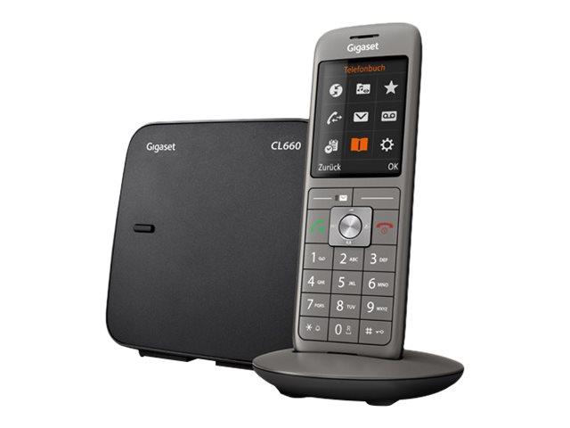 Gigaset - téléphone sans fil + combiné supplémentaire - anthracite