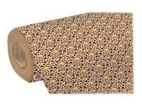 Clairefontaine - Papier cadeau kraft - 70 cm x 50 m - 70 g/m² - motif pépins fluo