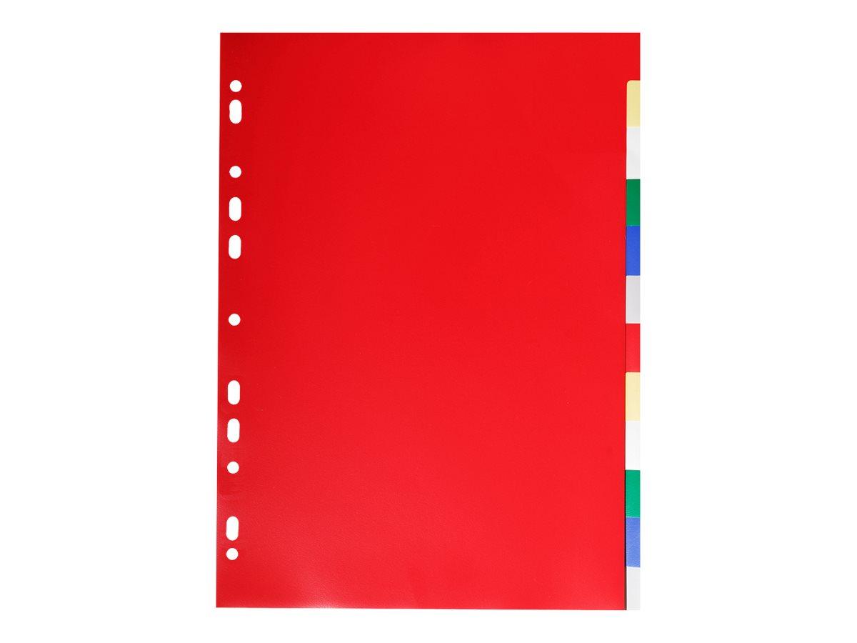 Exacompta - Intercalaire 12 positions - A4 - polypropylène coloré