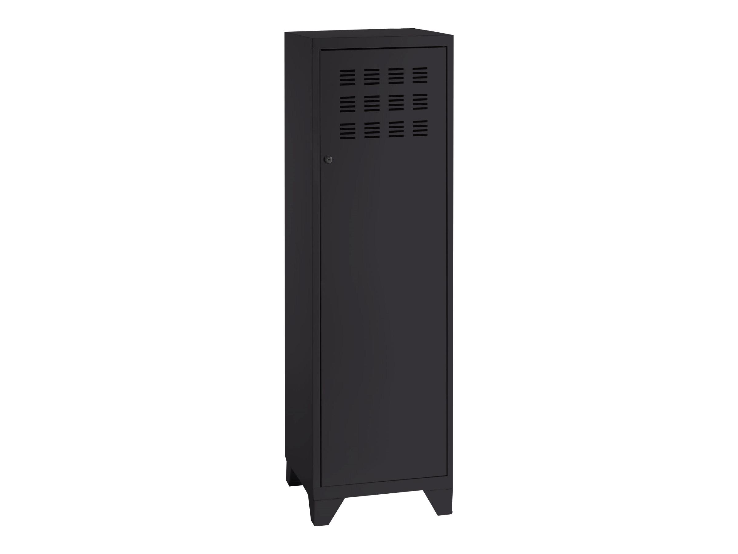 Casier de bureau avec pieds - 133 x 40 x 40 cm - noir
