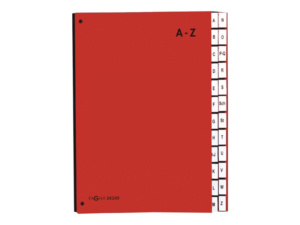 Pagna - Trieur alphabétique 24 positions - rouge