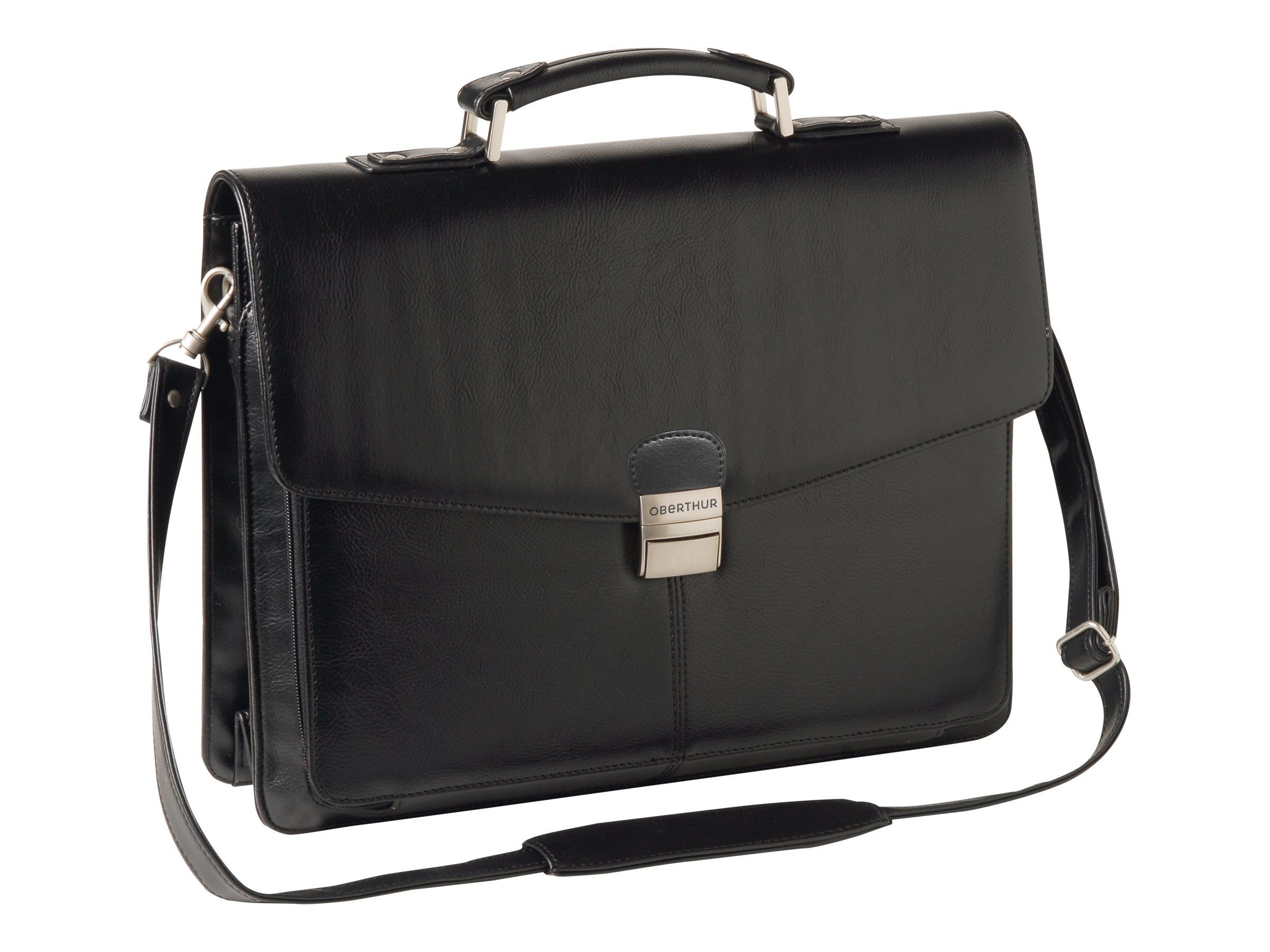 Oberthur Vancouver - Cartable rigide 3 compartiments - noir