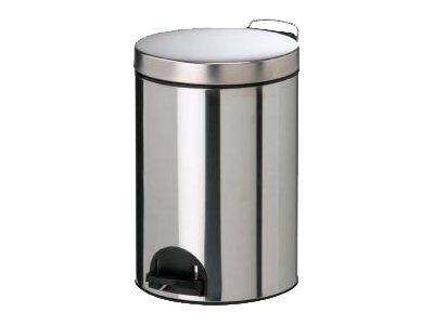 Rossignol Sanelia - Poubelle à pédale métallique - 14 L - acier inoxydable