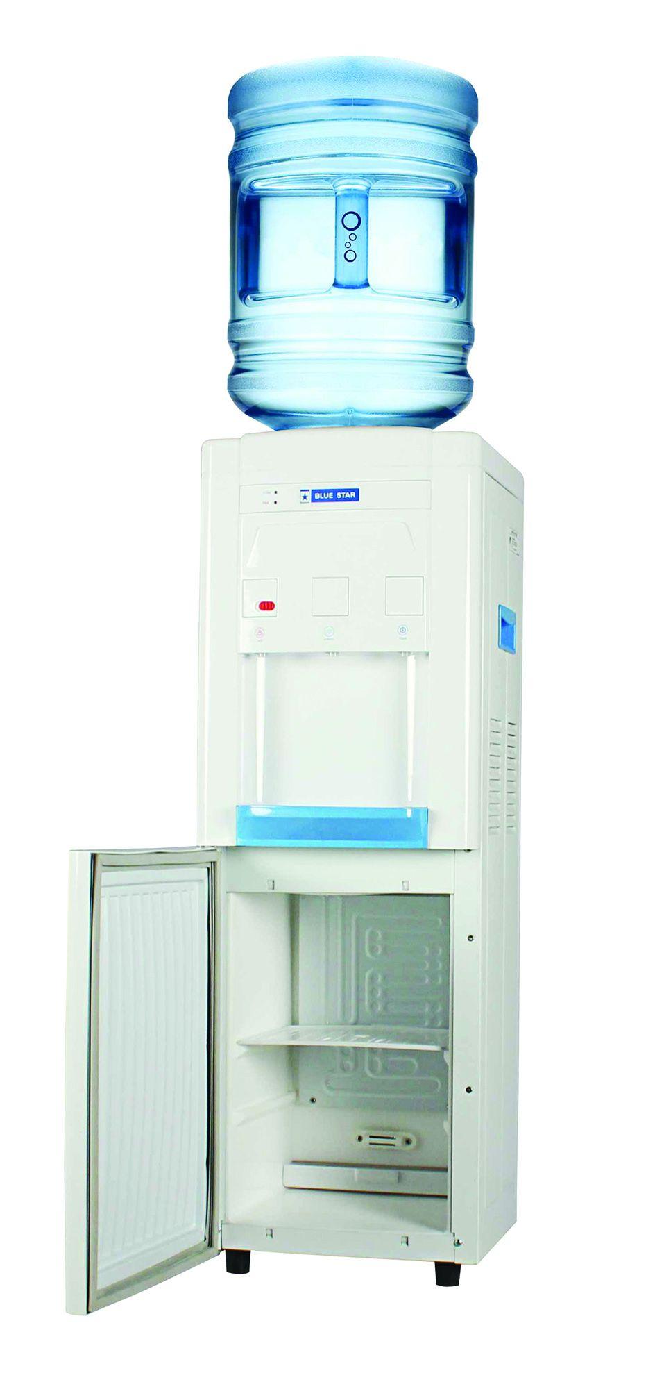 Fontaine à eau avec compartiment réfrigéré - eau chaude, froide et tempéré