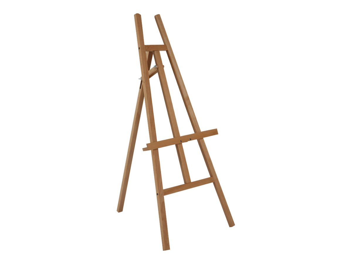 Promocome - Chevalet de présentation en bois - hauteur et inclinaison réglable - 60 x 148 cm