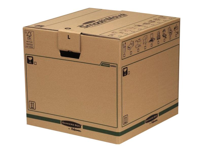 Bankers Box SmoothMove FastFold - 5 cartons déménagement 85L - Fellowes
