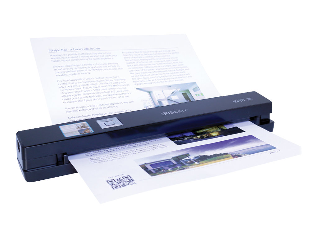 IRIScan Anywhere 5 - scanner de documents A4 - portable - Wifi - 1200 ppp x 1200 ppp - noir - 30ppm