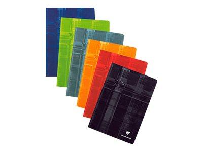 Clairefontaine - Cahier A4 (21x29,7 cm) - 144 pages - grands carreaux (Seyes) - disponible dans différentes couleurs