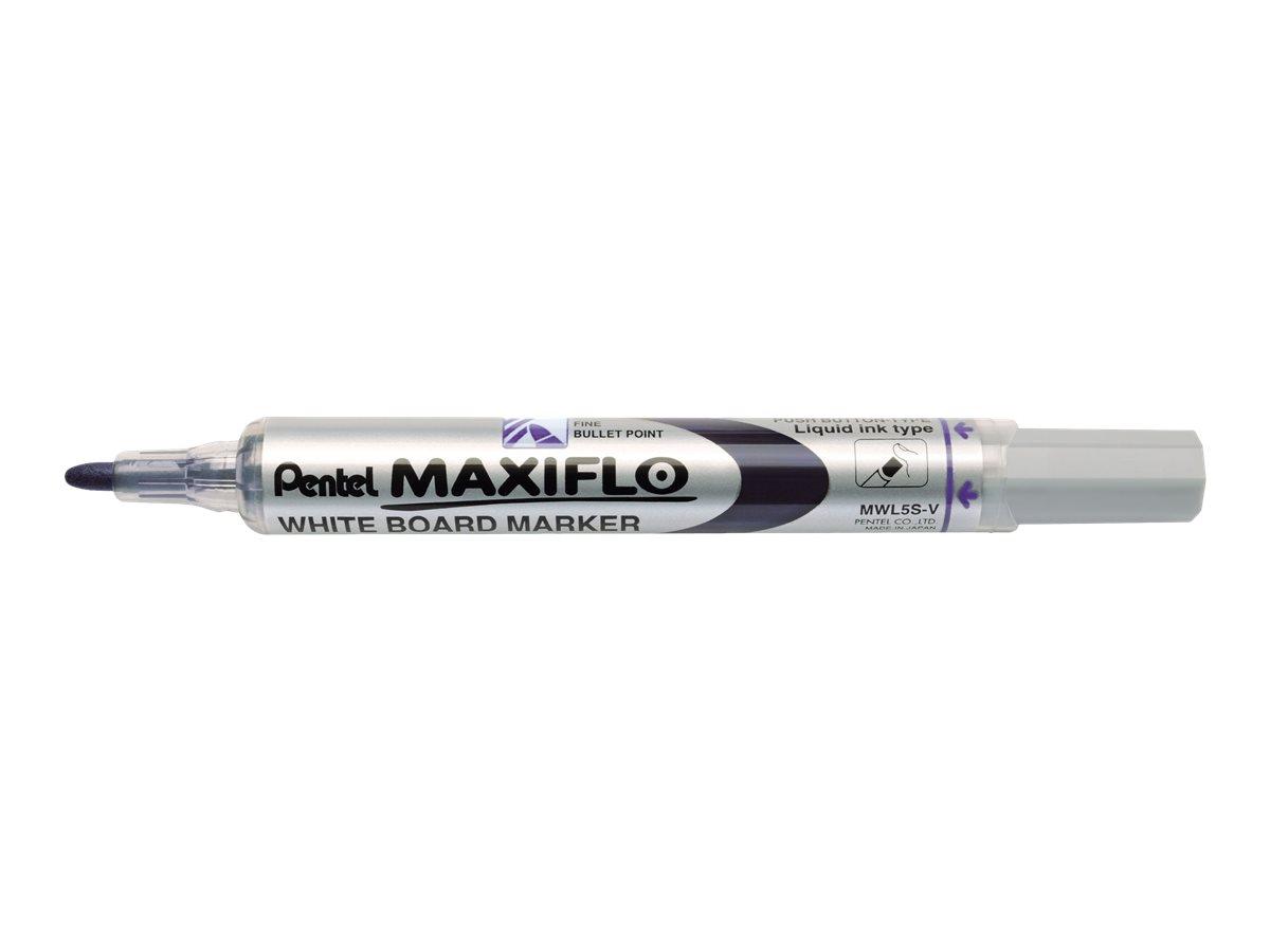 Pentel MAXIFLO - Pack de 12 marqueurs effaçables - pointe ogive - violet