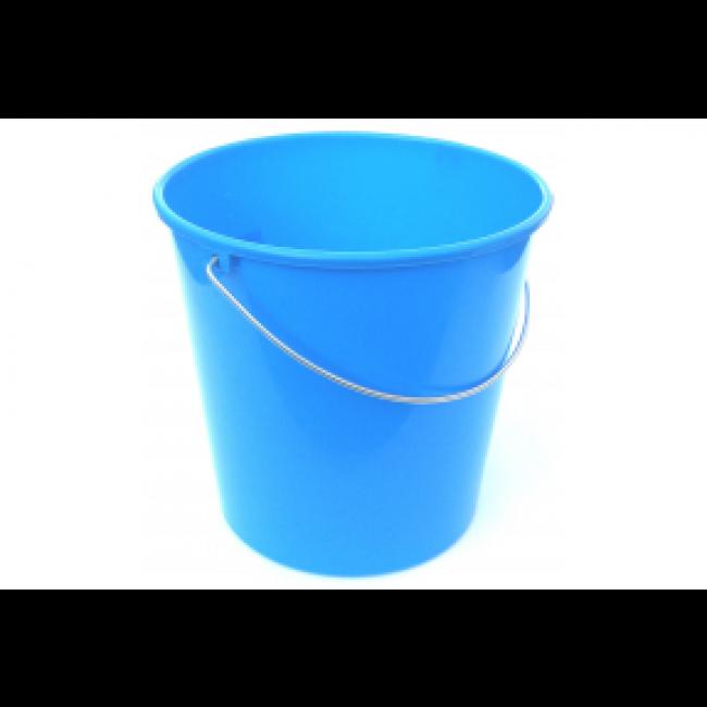 Tampel - Seau de ménage bleu - anse métal - 12L
