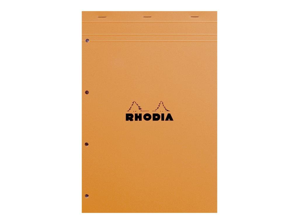 Rhodia Basics - Bloc notes - A4 + - 160 pages - petits carreaux - 80g - perforé