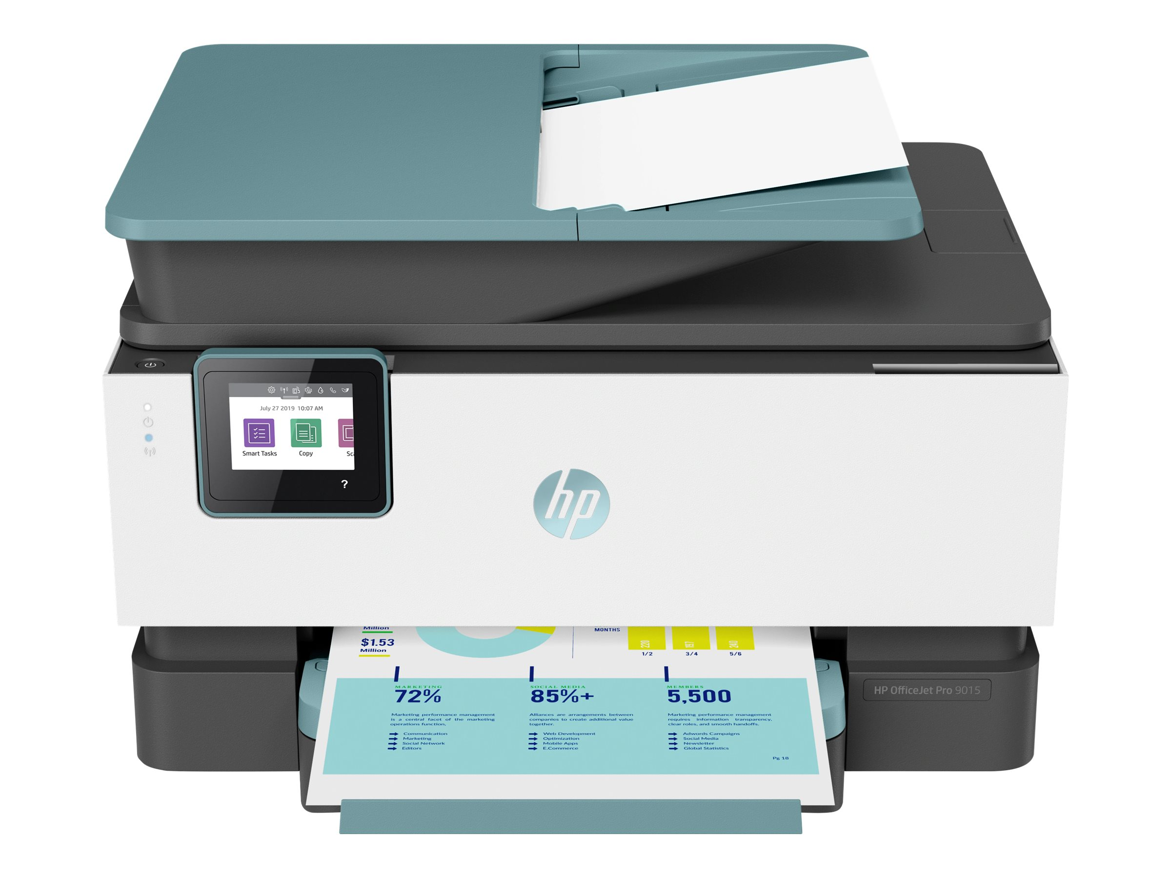HP Officejet Pro 9015 All-in-One - imprimante multifonctions jet d'encre couleur A4 - Wifi, USB - recto-verso