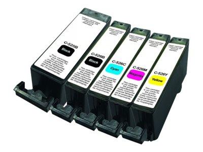 Canon PGI-525/CLI-526 - remanufacturé UPrint C.525/526 - Pack de 5 - noir x2, cyan, magenta, jaune - cartouche d'encre