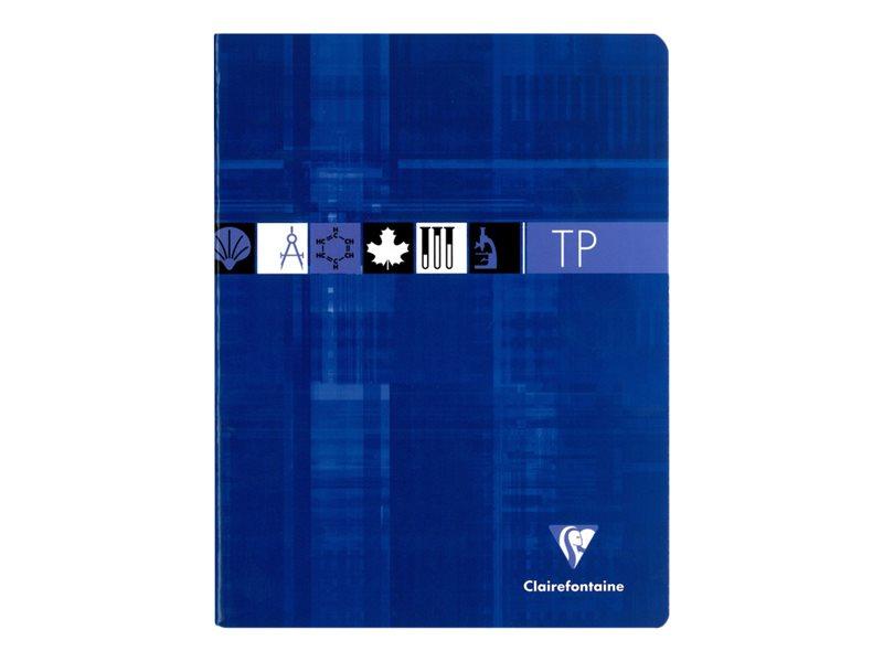 Clairefontaine - Cahier de travaux pratiques (TP) - 17 x 22 cm - 80 pages - grands carreaux (Seyes)/uni - disponible dans différentes couleurs