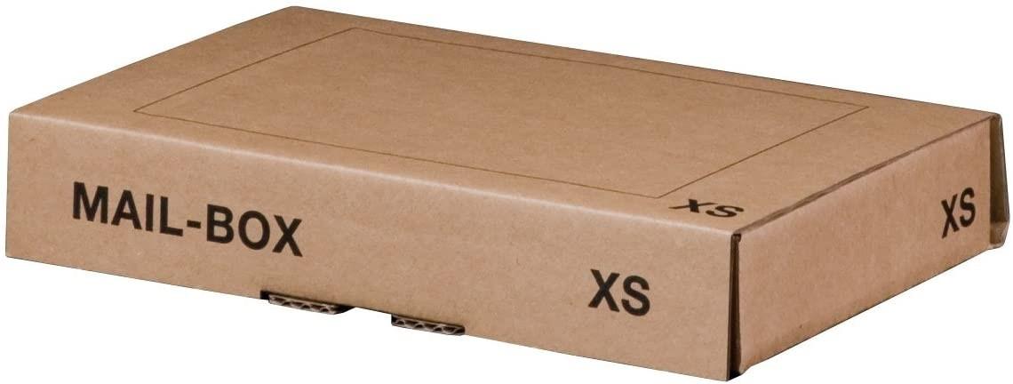Logistipack XS - Boîte postale d'expédition - 24,5 cm x 14,5 cm x 3,3 cm - kraft brun