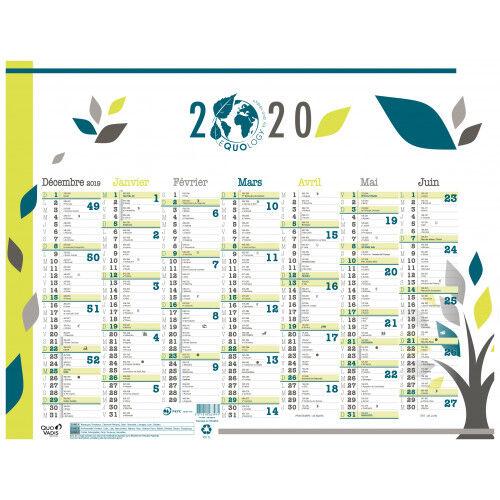 Quo Vadis Equology - calendrier recyclé - 7 mois par face - 270 x 210 mm