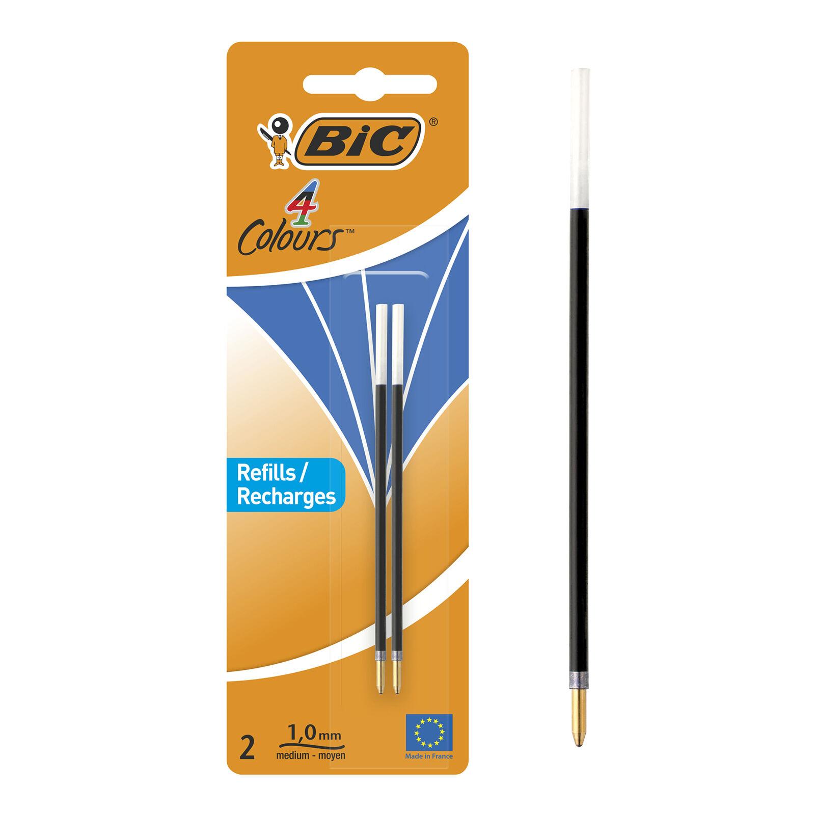 BIC 4 Couleurs - 2 Recharges - bleu - 0.32 mm