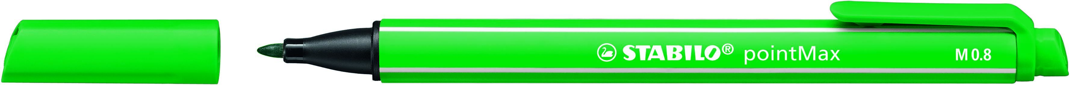 STABILO pointMax - stylo feutre - pointe moyenne -vert émeraude