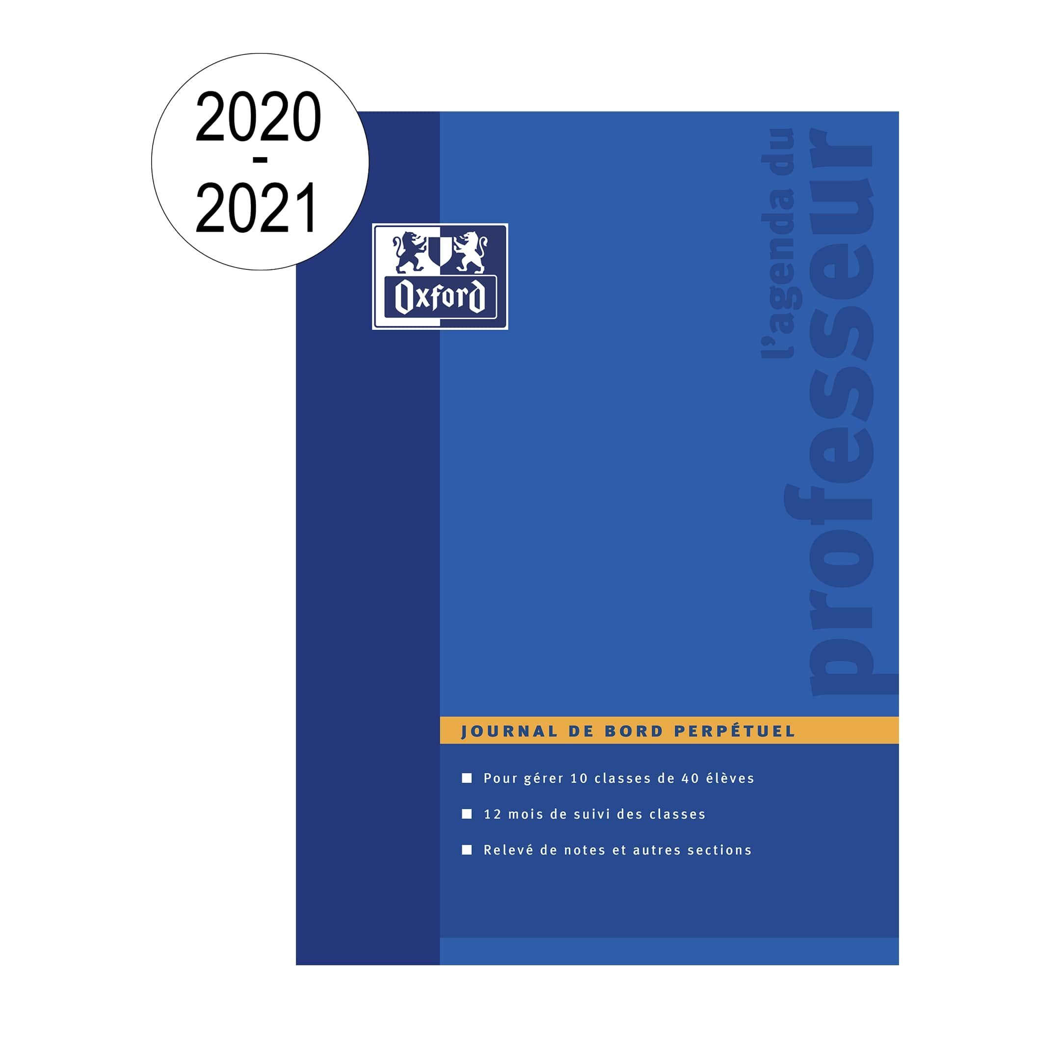 Agenda Oxford Teacher - Perpétuel - 21 x 29,7 cm - bleu - Hamelin