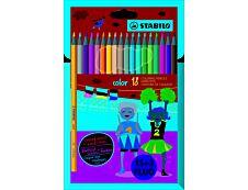 STABILO color - 18 Crayons de couleur