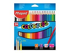 Maped Color'Peps Cardboard Packs - 24 crayons de couleur