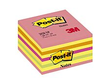 Cube Post-it Couleurs Energie Intense - 76 x 76 mm
