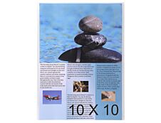 Exacompta - 10 Packs de 10 étuis simples A4 - 12/100 - cristal